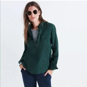 Madewell | Green Half Zip Sweater Shirt | Sz S